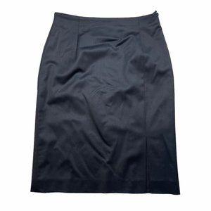 ESCADA Black Wool Pencil Skirt Size 36/6 EUC
